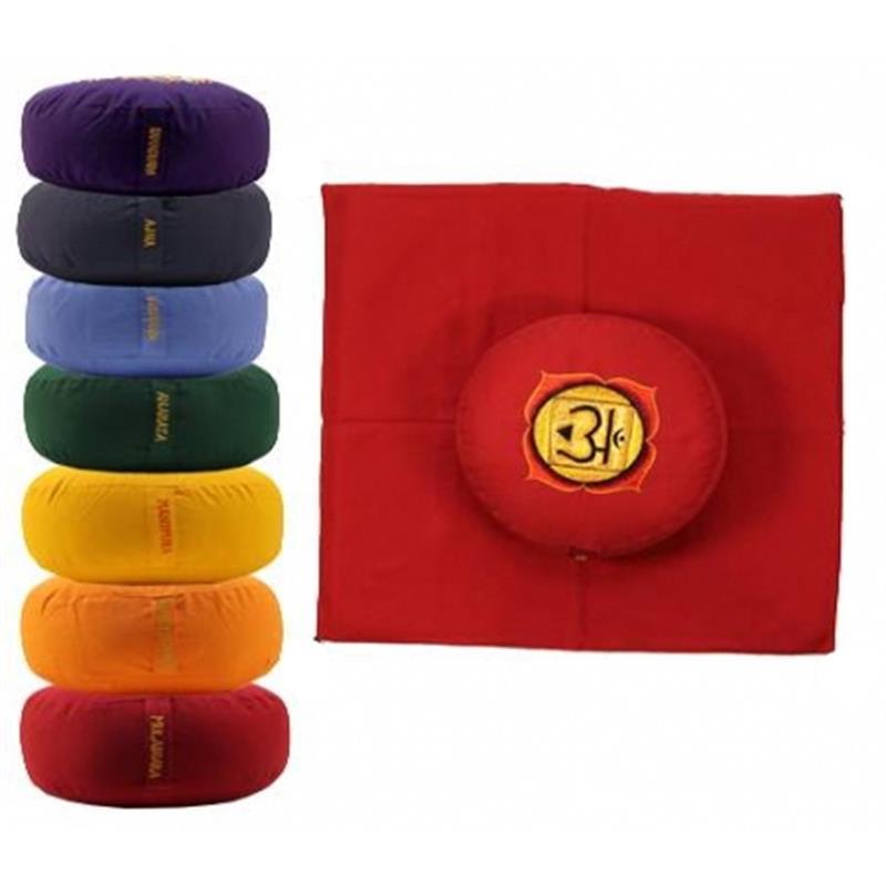 Meditatiekussens en matten Chakra's